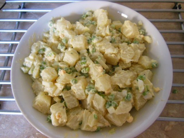 Caribbean Salads Ready To Go: Jamaican Potato Salad.... Recipe Can Be Found At: Http