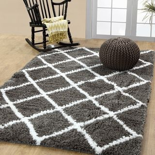 Shop for Soft and Cozy Trellis Shag Area Rugs by Affinity Home (5 'x 8') . Get…