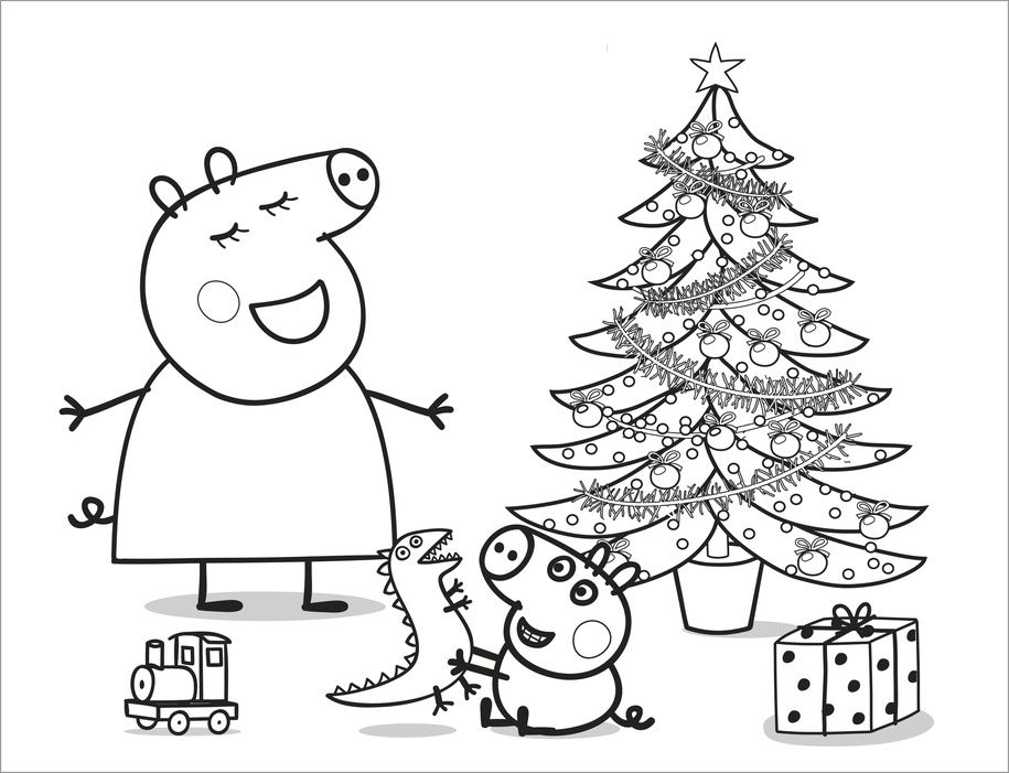 pintar peppa  Spanish Coloring Pages  Pinterest  DIY Christmas