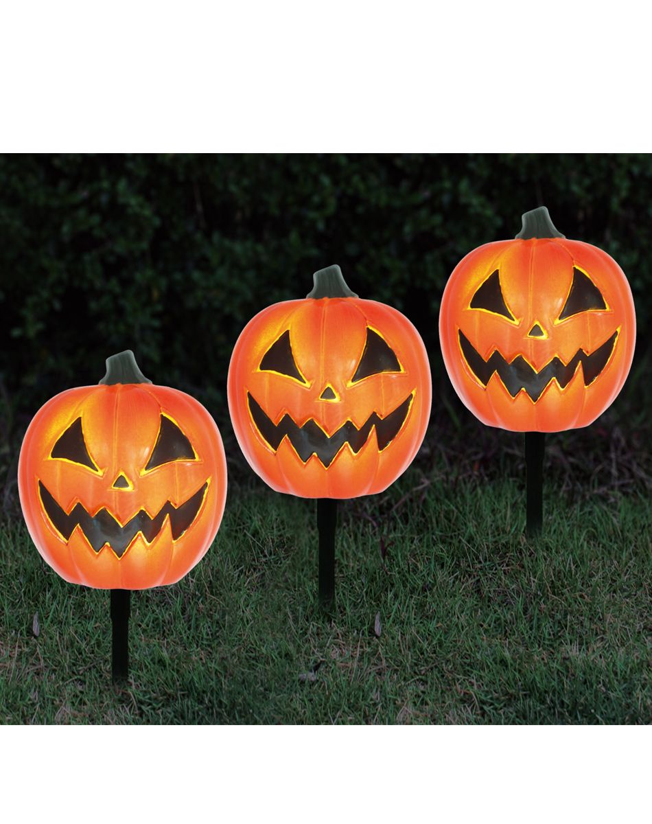 3 Pack Pumpkin Pathway Markers Spirit Halloween Halloween Costume Store Spirit Halloween Halloween Accessories