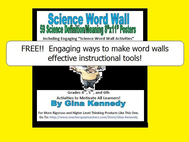 FREE STRATEGIES TO USING A SCIENCE WORD WALL AS AN EFFECTIVE SCIENCE VOCABULARY TOOL!