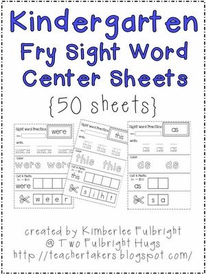 Free Sight Word practice pages - Click image to find more Kids ...