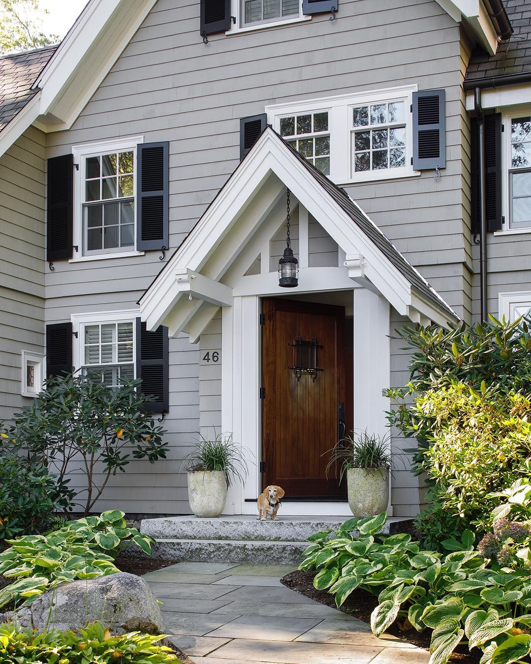 Makeover Mon New Painted Red Cedar Shingle Siding Wood Roof Historically Accurate Windows With Th Shingle House Exterior Shingle House Cedar Shingle Siding