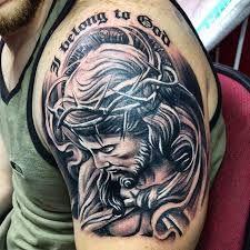 Resultado De Imagen Para Arbol De Cerezo Tatuaje En El Hombro Tatuaje De Jesus Tatuajes De Manga Religiosos Tatuaje De Cristo