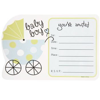 Bulk Baby Boy Shower Party Invitations 10 Ct Packs At