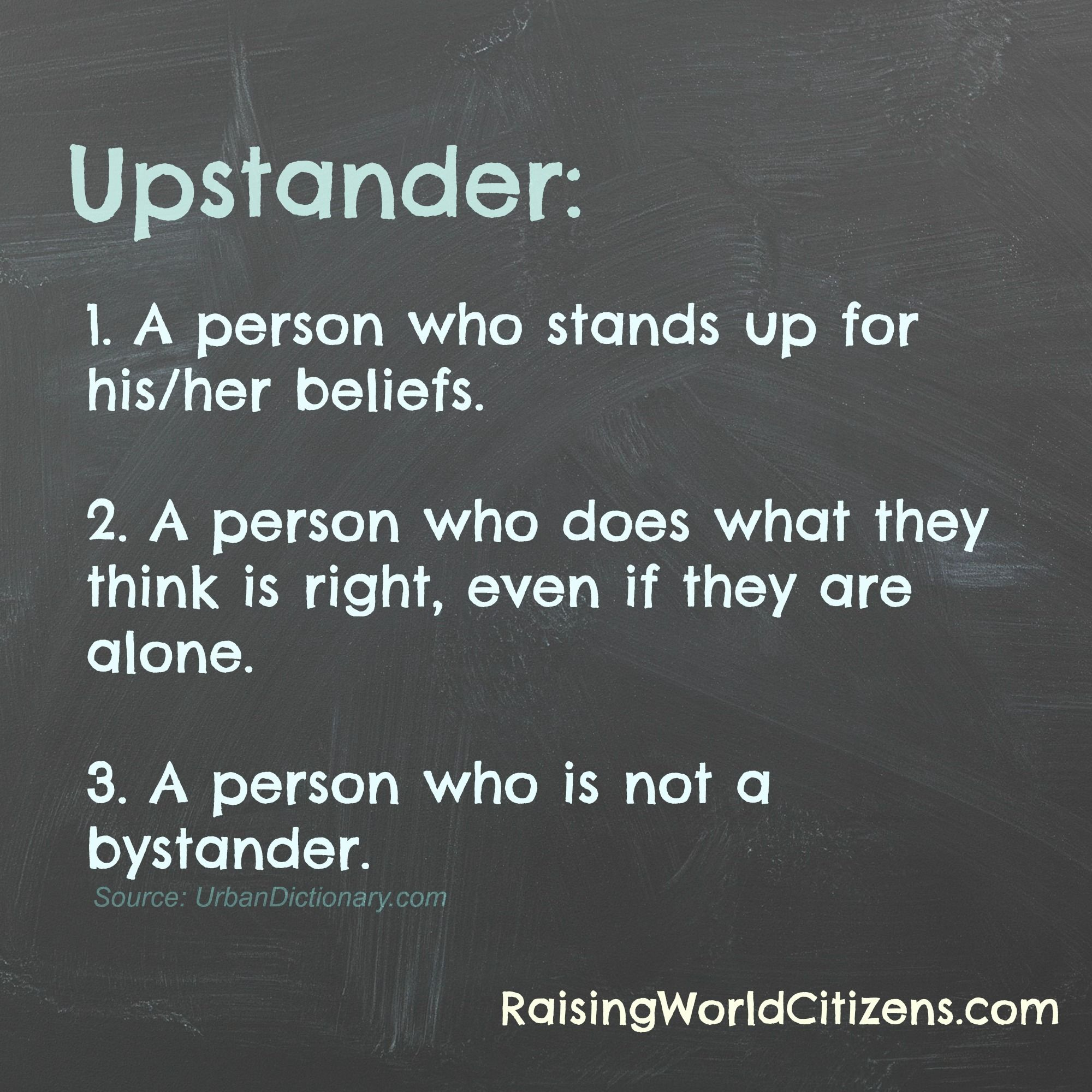 Who is an upstander