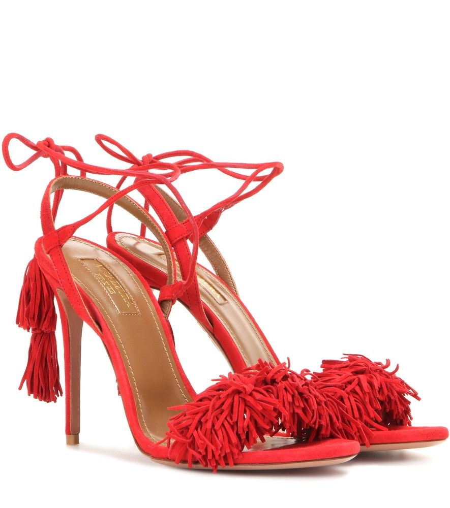 02588bc5d49 Aquazzura - Wild Thing 105 suede sandals - Aquazzura has us in a ...