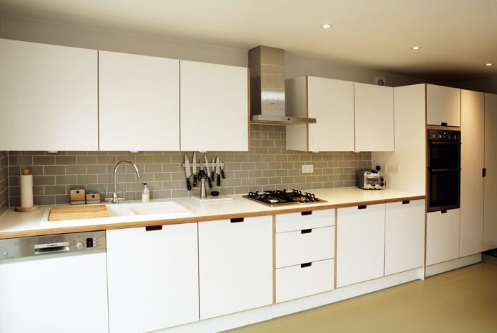 Formica Kitchen With Birchply And Formica Worktops And