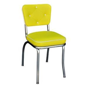 Richardson Seating 4240YEL 50s Retro Lucy Diner Chair with Box Seat, $141