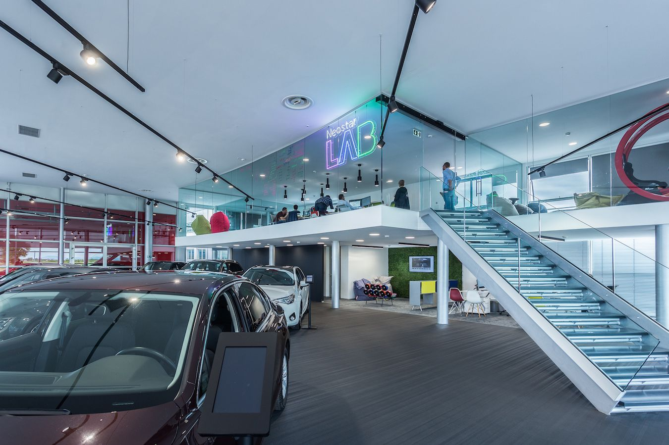 This Innovative Car Salon Combines Digital And Physical Aspects Of The Space It Is Part Of A Complete New Retail Design Thessaloniki Greece Retail Design Blog
