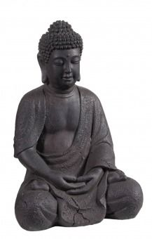 Buddha Sun Braun 33 Cm Hochwertig Gearbeitete