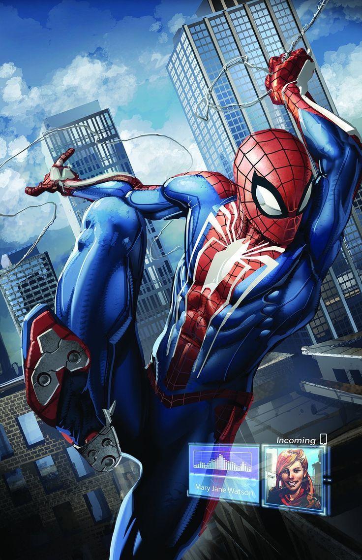 PlayStation 4 1TB Console Spiderman comic, Marvel