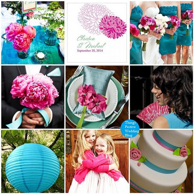 Fuchsia And Teal Wedding Color Palette Someday