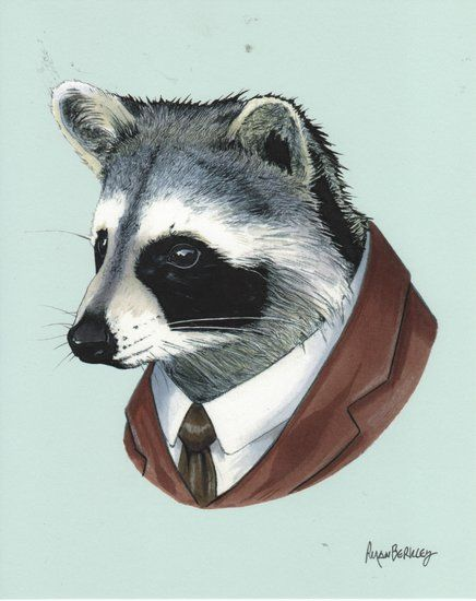 Raccoon. Ryan Berkley  http://www.readingfrenzy.com/shoppe/art_prints__posters/990/