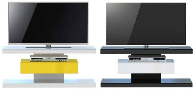 TV Schrank Rack & Board weiß schwarz rot modern & hochglanz
