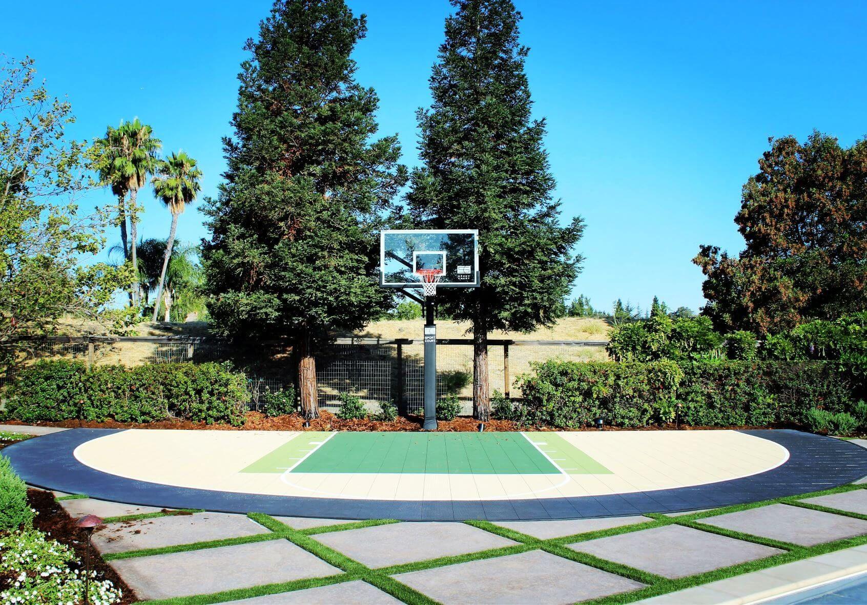 Wonderful Small Backyard Basketball Court Ideas   Backyard ...