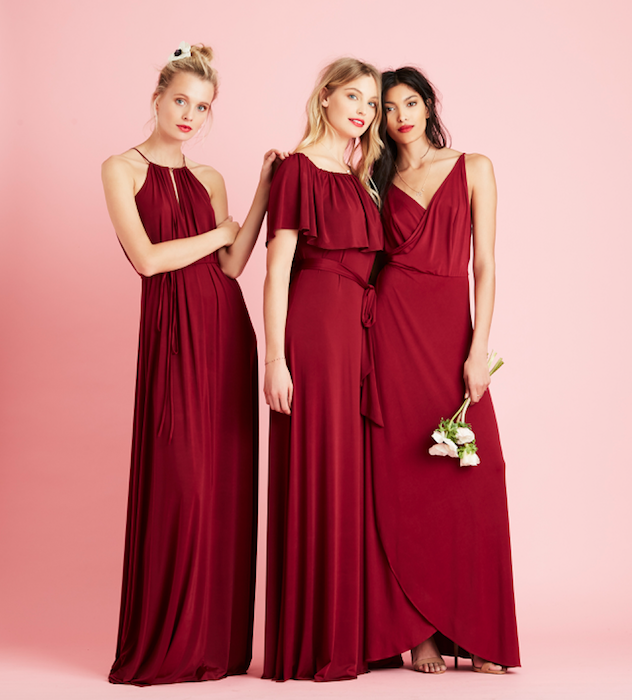 Charlie Maya Lily New Burgundy Maroon Red Bridesmaid Dresses From The Twobirds Party Collection Mix Match