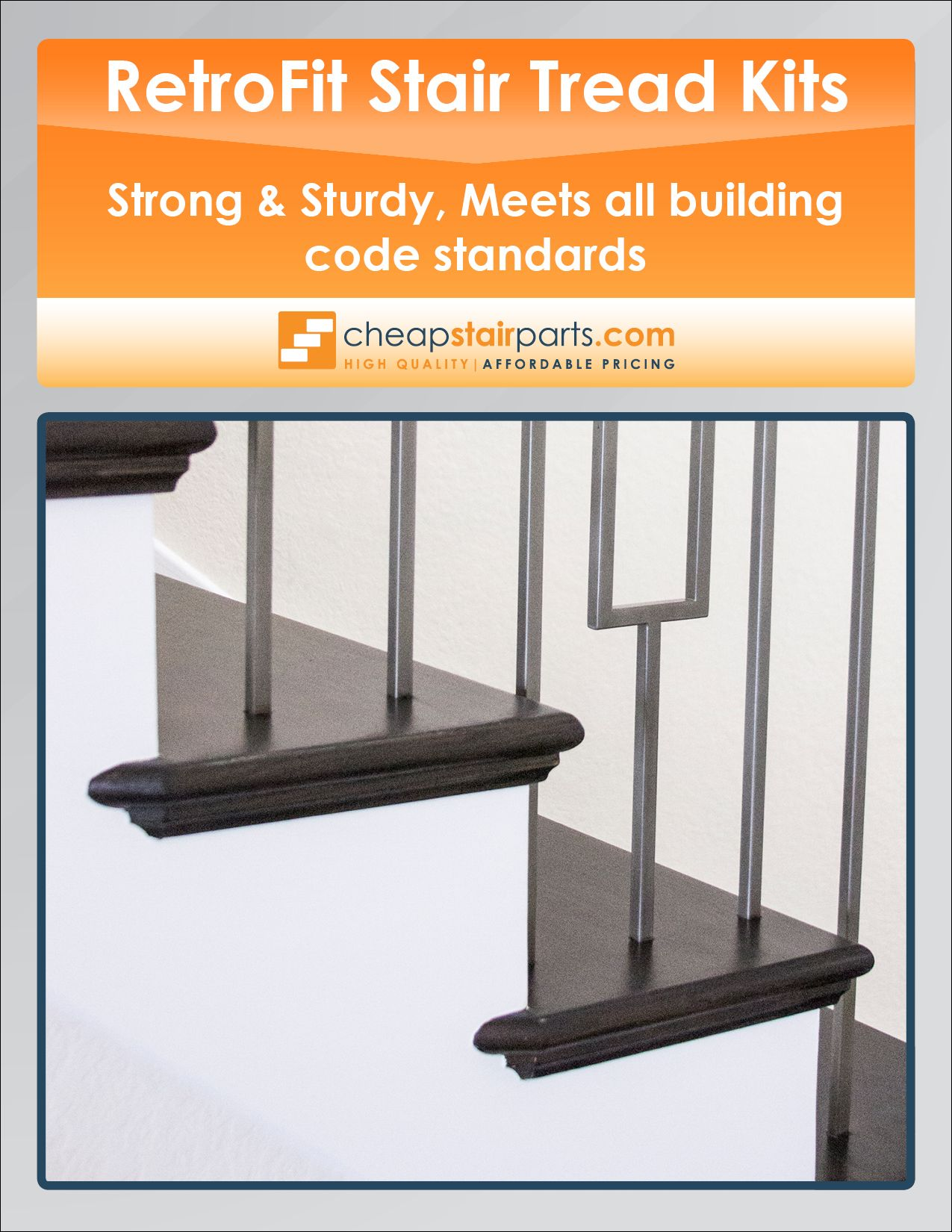 Best We Sell Durable Retrofit Stair Tread Kits See The Whole 400 x 300