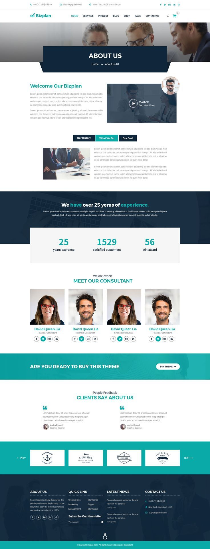 Corporate And Business Agency Template By Designlight Themeforest Corporate Web Design