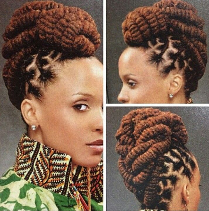 I love the three strand twists in an updo Stylin african