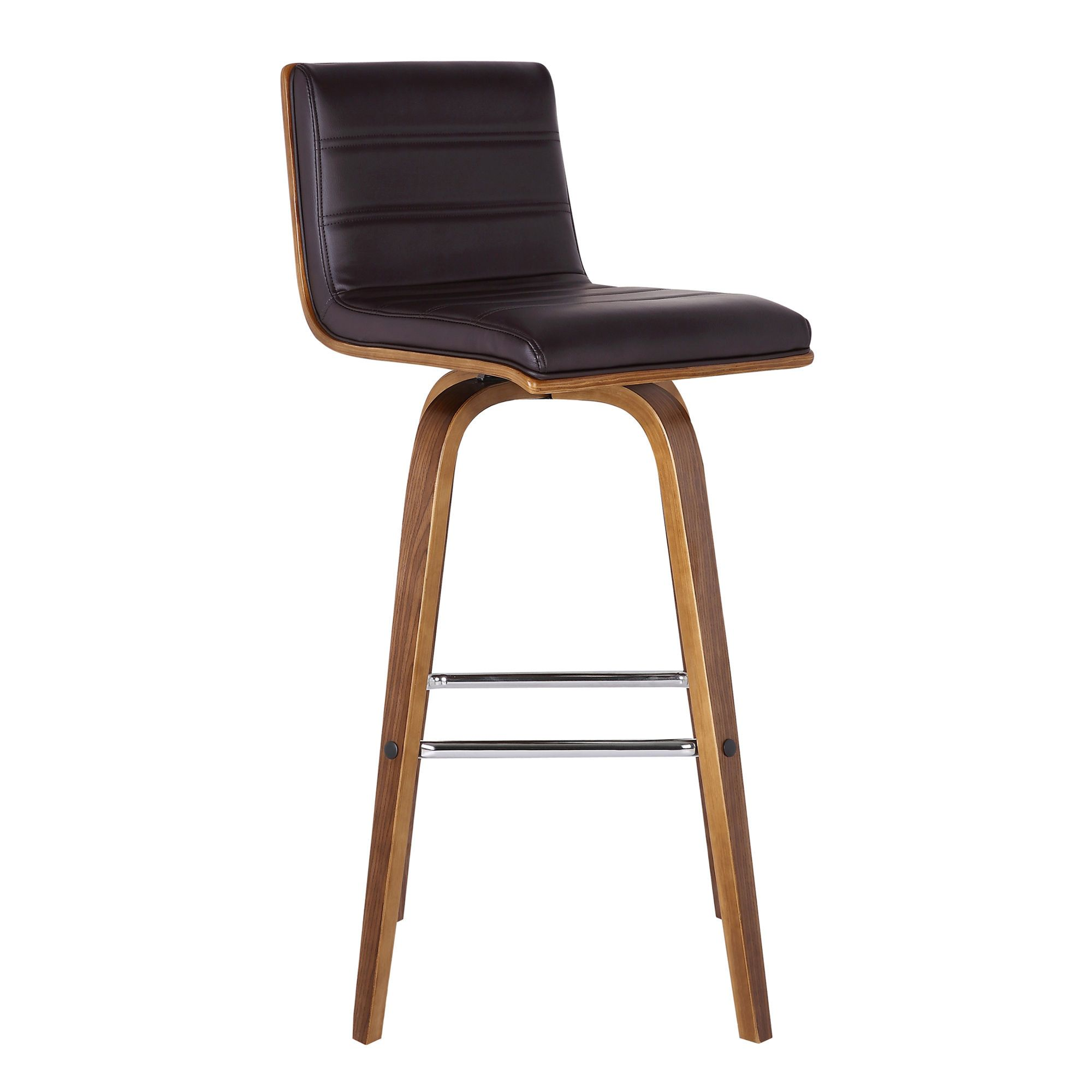 Armen Living Vienna Brown 26 Inch Counter Stool Leather Counter