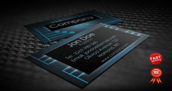 Blux Tt I Will Design Professional Business Cards Design Print Ready For 15 On Fiverr Com Electronic Business Free Business Card Templates Free Business Cards
