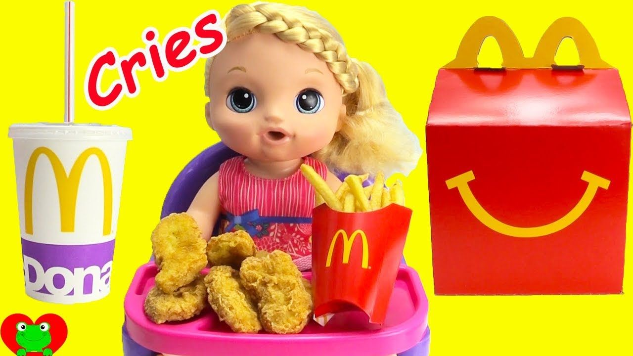 Baby Alive Sweet Tears Cries And Eats Mcdonald S Baby Alive Disney Surprise Crying