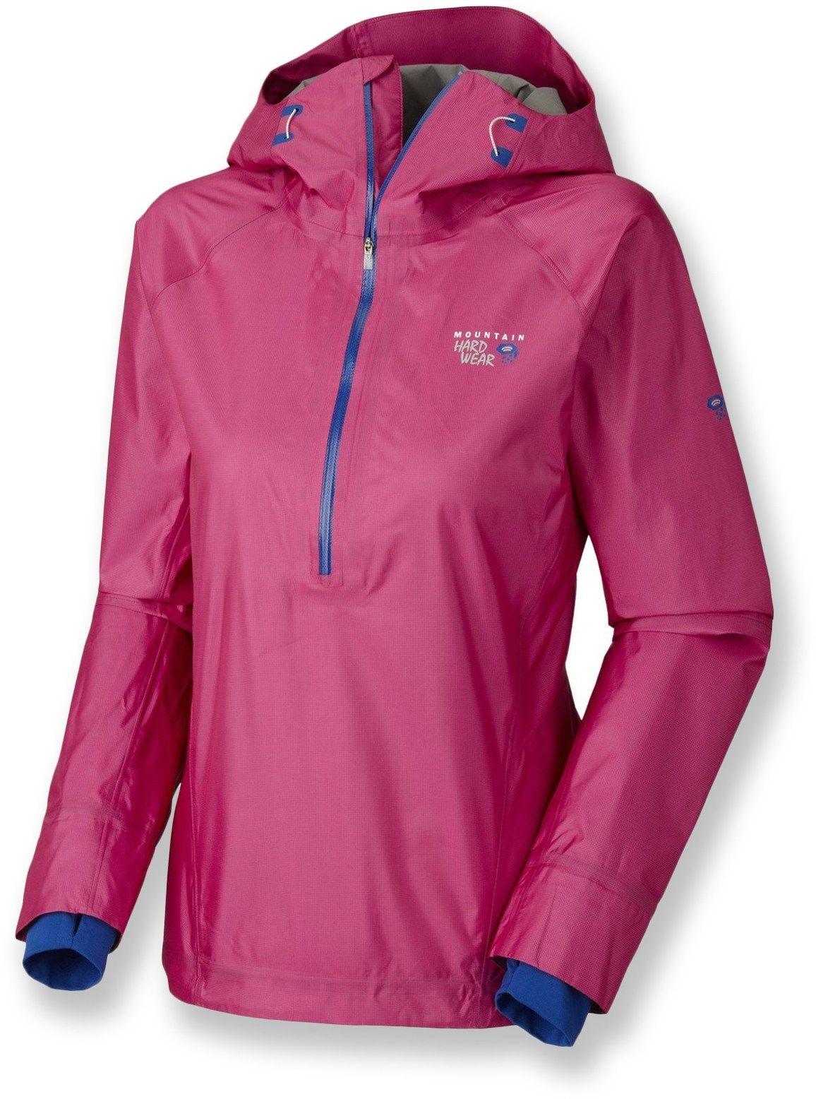 world-wide selection of moderate cost super service Mountain Hardwear Female Quasar Pullover Half-Zip Rain ...