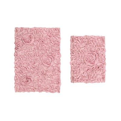 House Of Hampton Loganne Bath Rug Set Color Pink Size 17 W X 24 L Rugs