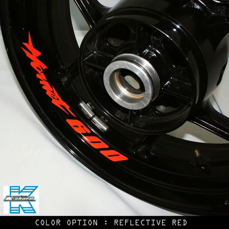 X CUSTOM INNER RIM DECALS WHEEL Reflective STICKERS STRIPES FIT - Bmw motorcycle custom stickers decals