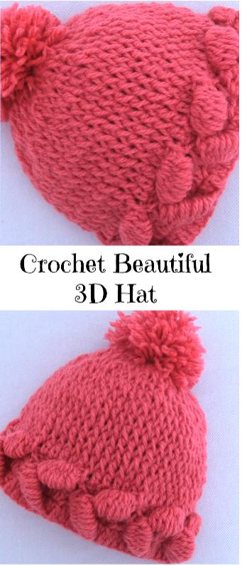 3d Hat Crochetholic Hilariafina Pinterest Häkeln Häkeln