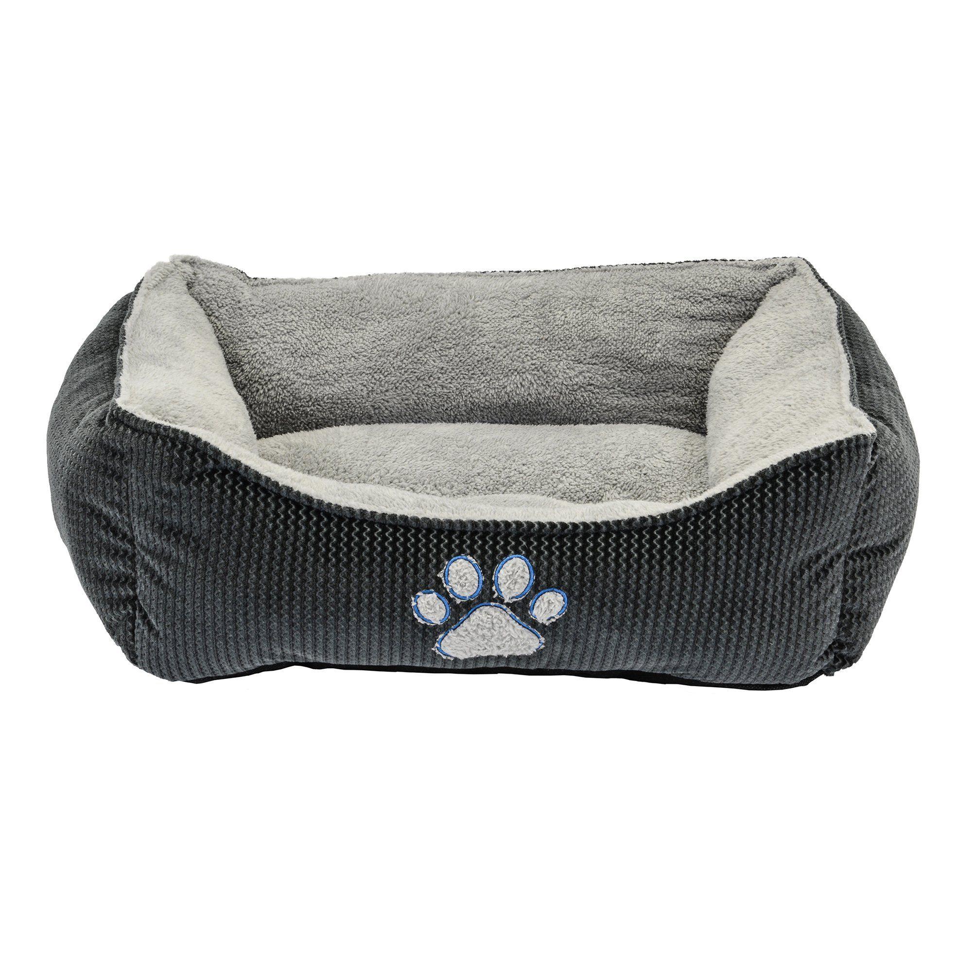 Dallas Manufacturing Zigzag Gray Box Dog Bed 25 L X 21 W Dog