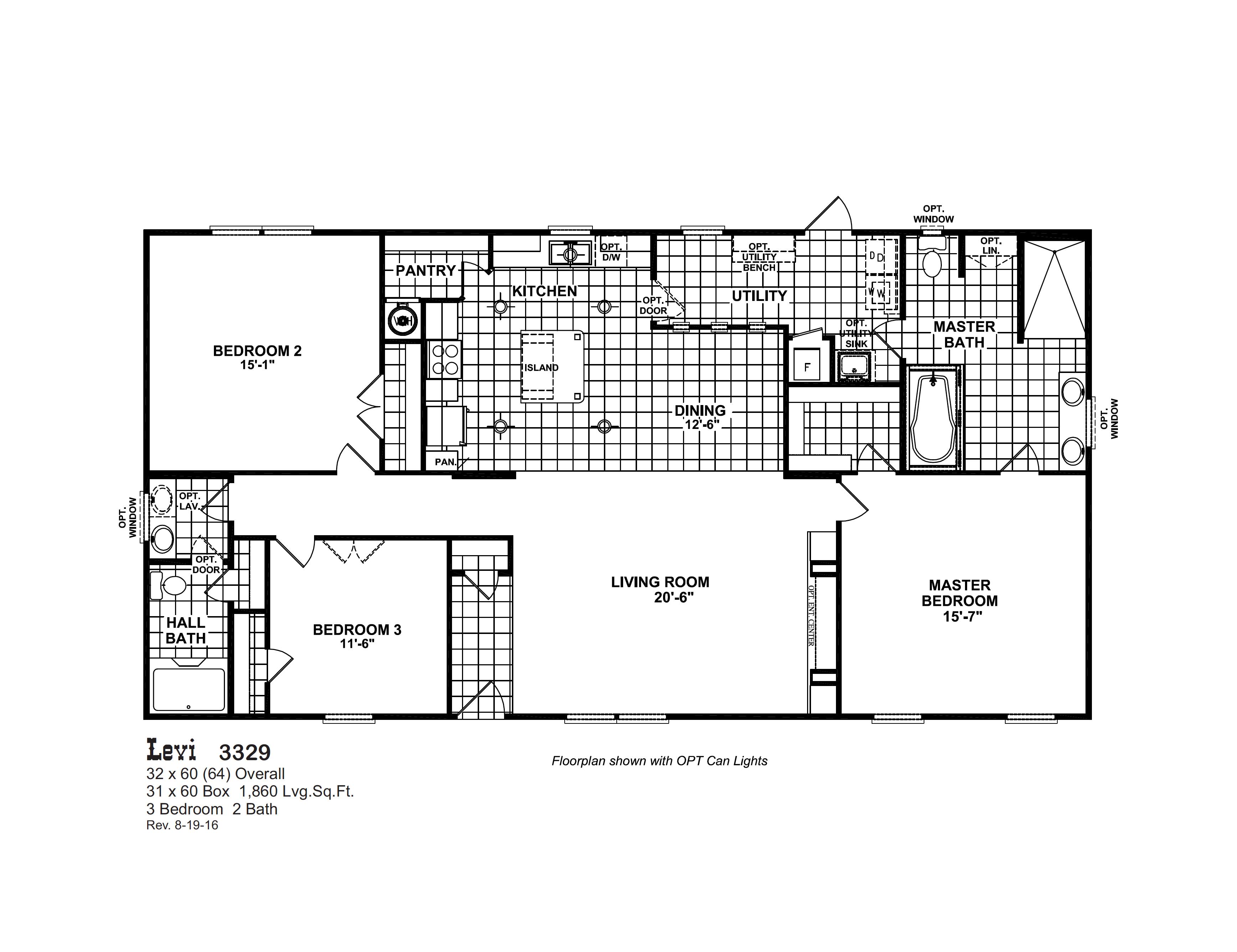 Levi 3329 Oak Creek Homes Oak Creek Homes Manufactured Home Floor Plans