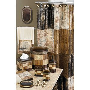 Zambia Animal Bath Collection Bathroom Curtain Set Elegant