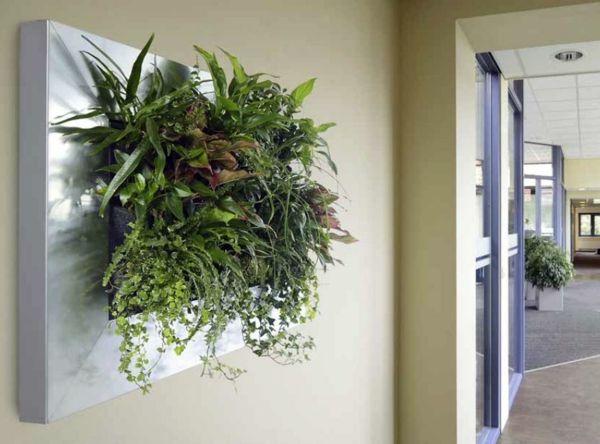 Wanddekoration Mit Pflanzen Lebhaft Vertikal Garten