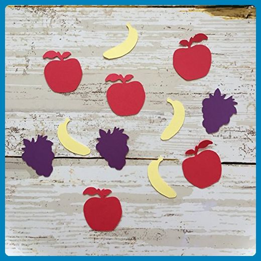 1in Apple Confetti, Banana Confetti, Grapes Confetti, Fruit Cut Out, Fruit Decorations, Tropical Supplies, Favors, Table Scatter, Decorations, Party Supplies, Fruit Confetti - Wedding favors (*Amazon Partner-Link)