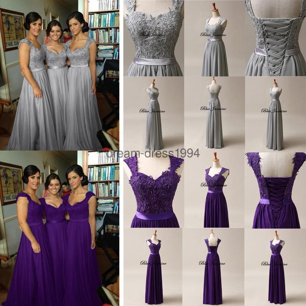 Dress for wedding evening party  Awesome Great Stock New Long Chiffon Bridesmaid Dress Wedding