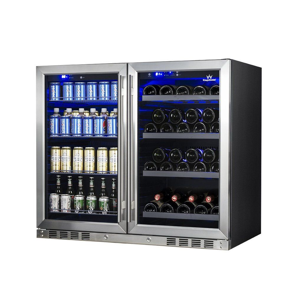 39 Inch Under Counter Wine And Beer Fridge Combo Beer Fridge Wine Dispenser Wine And Beer Fridge