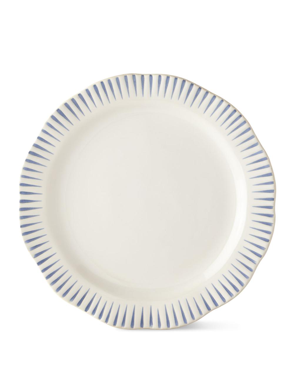 Juliska Sitio Stripe Indigo Dinner Plate In 2020 Dinner Plates Juliska Tops Designs