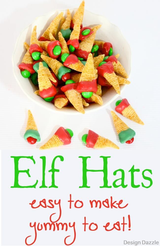 Edible Elf Hats is part of Easy christmas treats, Christmas snacks, Fun treats, Christmas treats, Christmas food, Christmas movie night - I love having my kids in the kitchen at the holidays helping to create yummy foods and edible crafts  The edible Elf Hats are so easy toddlers can help!