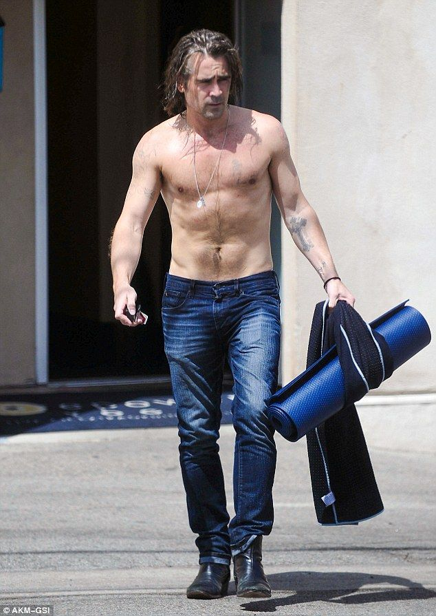 Working Up A Sweat Colin Farrell Revealed How He Keeps His Body So Toned And Healthy As Was Spotted Leaving Yoga Class In The Los Angeles