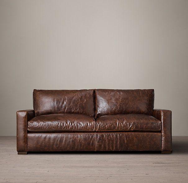 6 Petite Maxwell Leather Sofa Leather Sofa Small Sofa