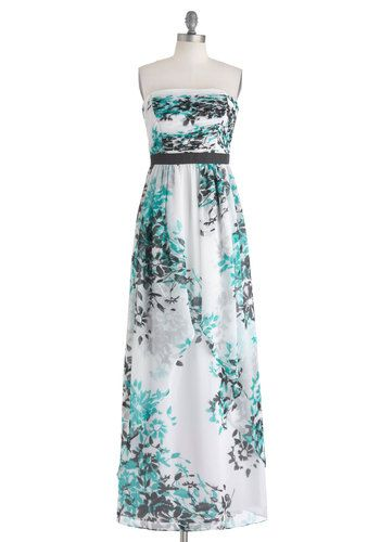 Grotto Gala Dress By Max And Cleo Long White Blue