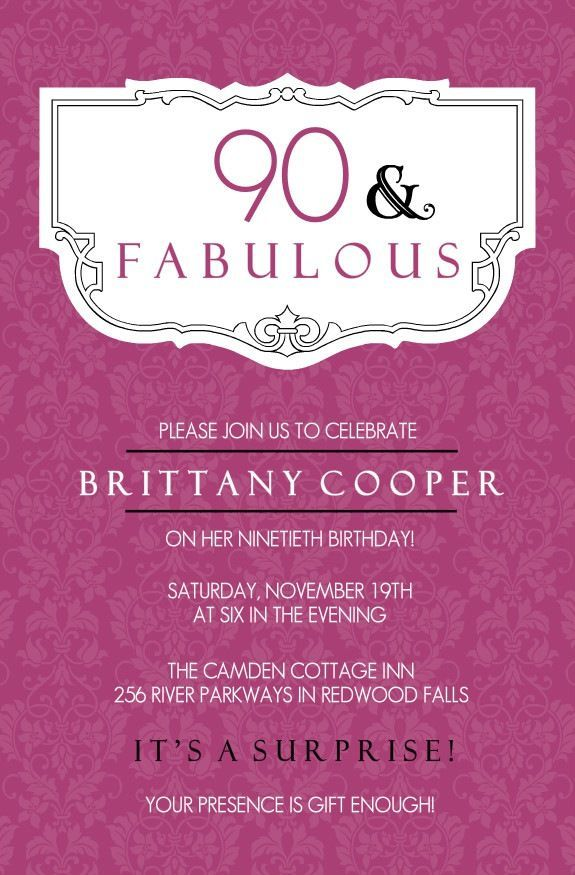 90th birthday invitations samples 90th birthday party ideas 90th birthday invitations samples filmwisefo Gallery