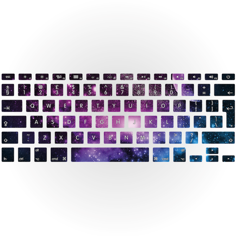 photo about Printable Keyboard Stickers called Galaxy Apple MacBook Keyboard Sticker Interesting keyboard addresses