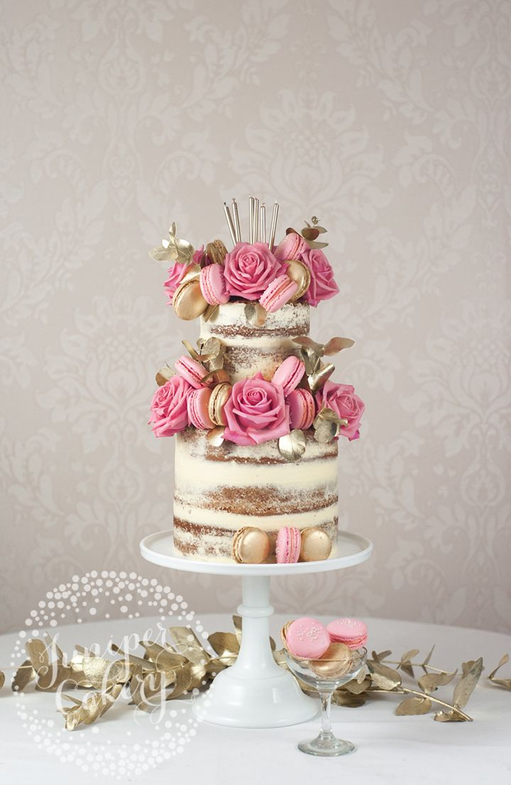 9 Exquisite Wedding Cakes From Juniper Cakery Gold Studs Naked