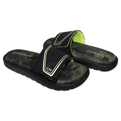 00977b171e7bb Boys  Gavyn Cushion Slide Sandals L - C9 Champion - Black