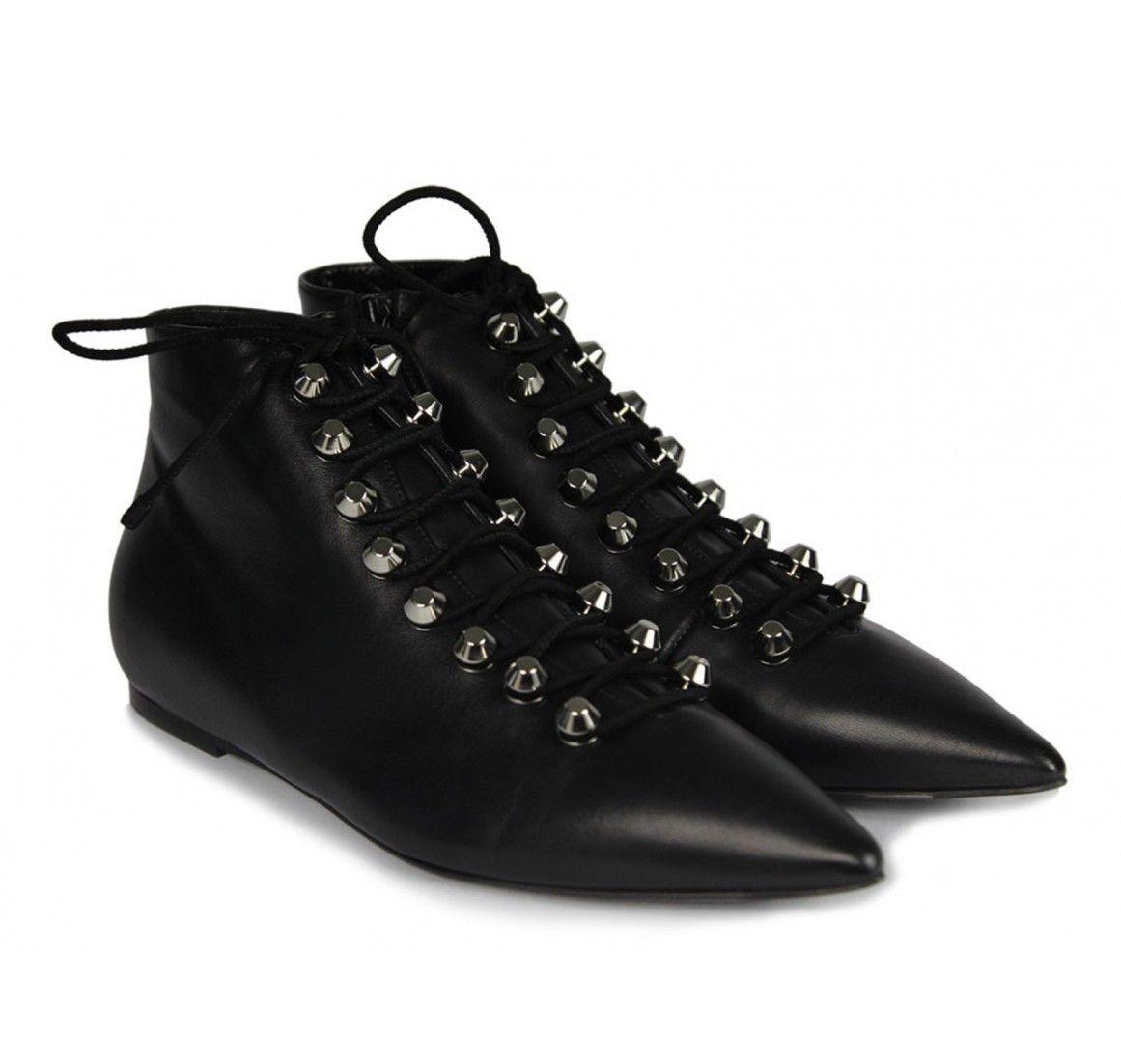 Balenciaga black lambskin ankle boots (391071 WAUQ0 1000) - Bledoncy