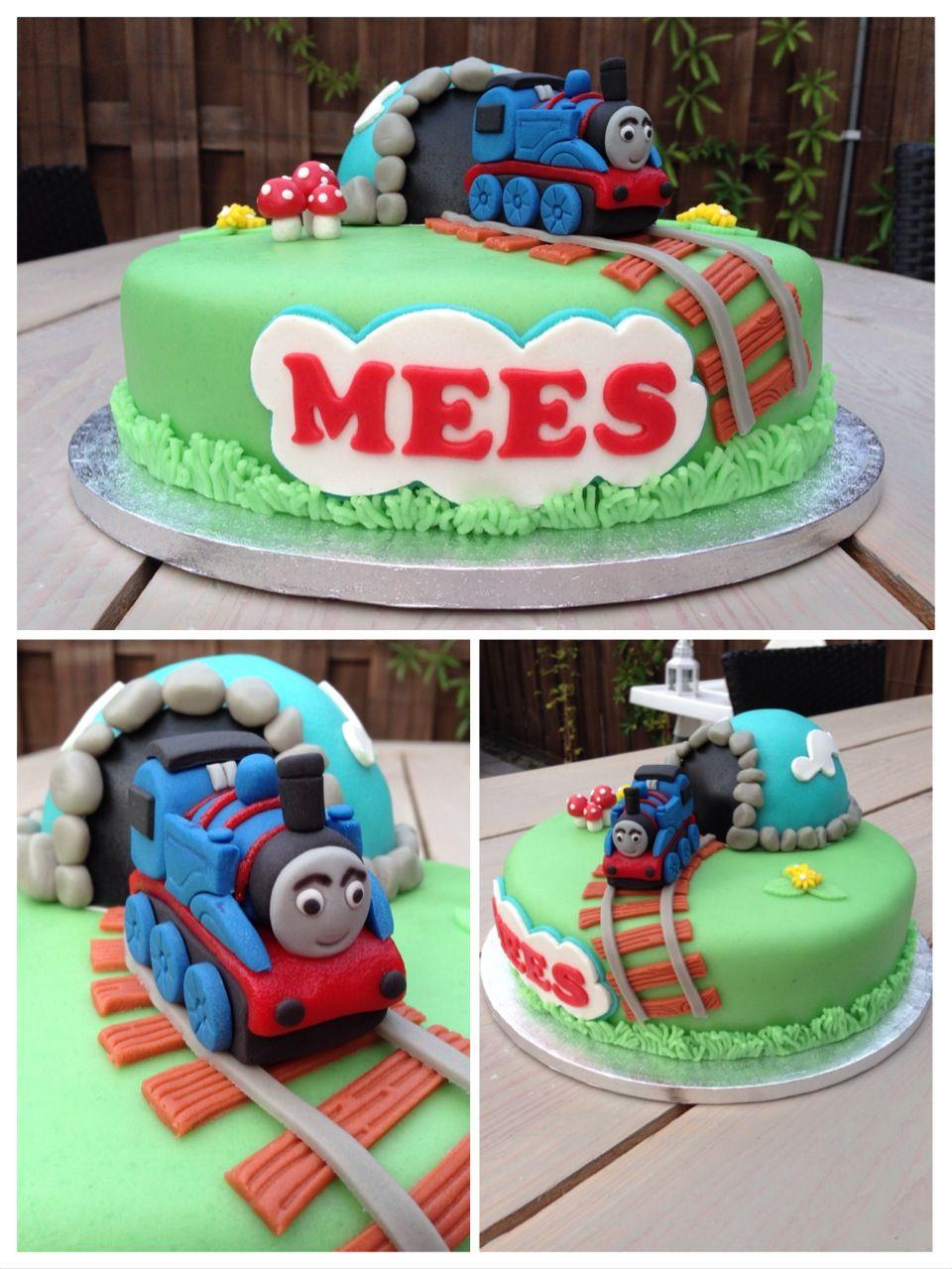 Iets Nieuws Thomas de trein taart / Thomas the train cake | Birthday | Trein #QE36