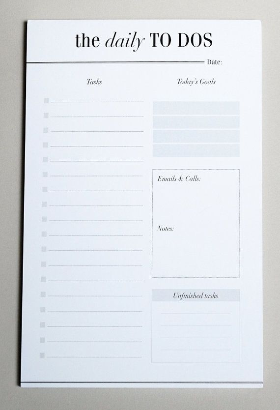 To Do List Notepad   Daily Planner Desk Pad   A5 Desk Planner - notepad paper template